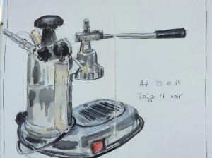 Espressomaschine in einer Berliner Kaffeebar