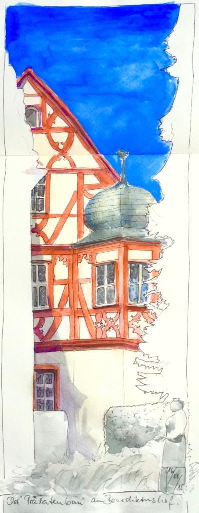 Prälatenbau am Benediktushof Holzkirchen, frühneuzeitlicher Gebäudeteil der Klosteranlage.