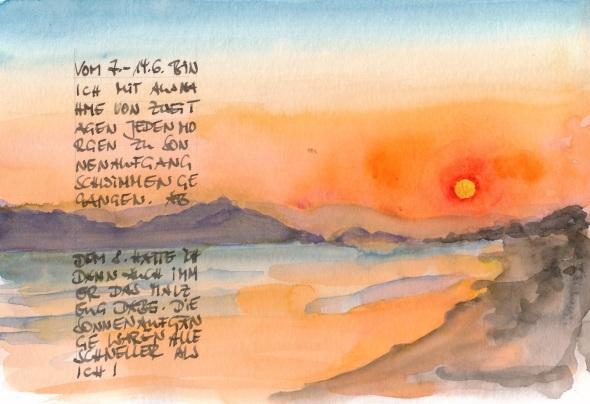 Sonnenaufgang auf Kos - ein Versuch