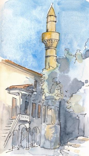 Haji-Hassan Moschee in Kos-Stadt. Besonders angetan hatte es mir der zierliche Rokokko-Vorbau.
